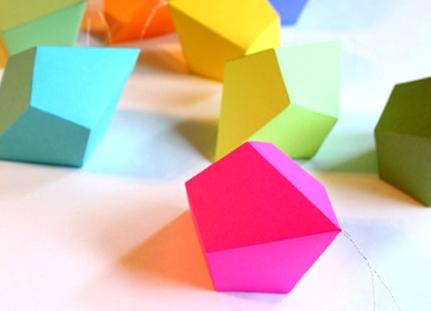 geometric paper ornaments