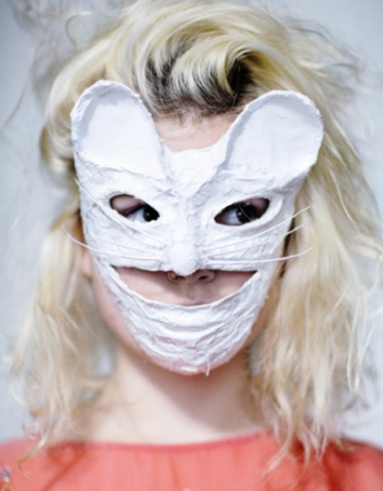 Kamo mask worn by Olivia Bee
