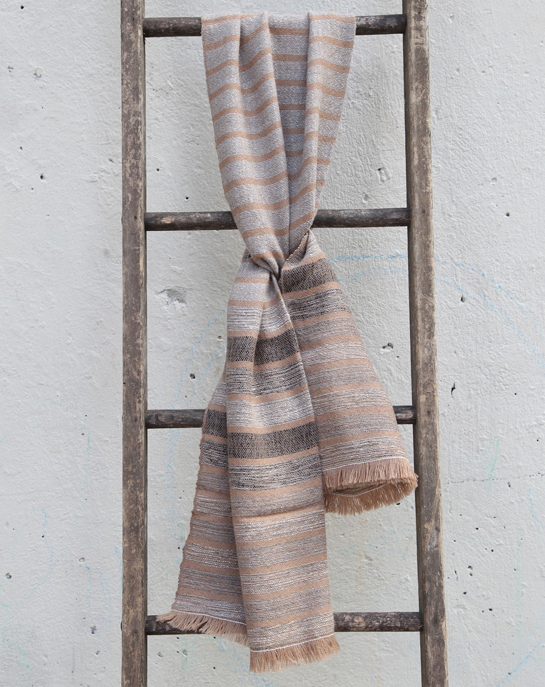 Llano Multi Stripe Scarf in Camel