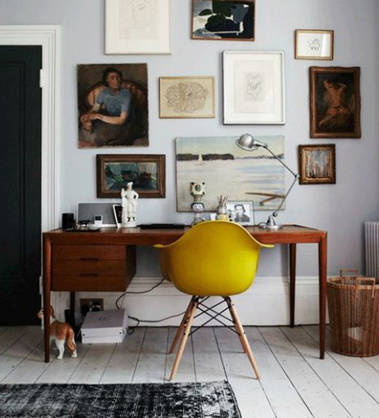 a mustard touch at home