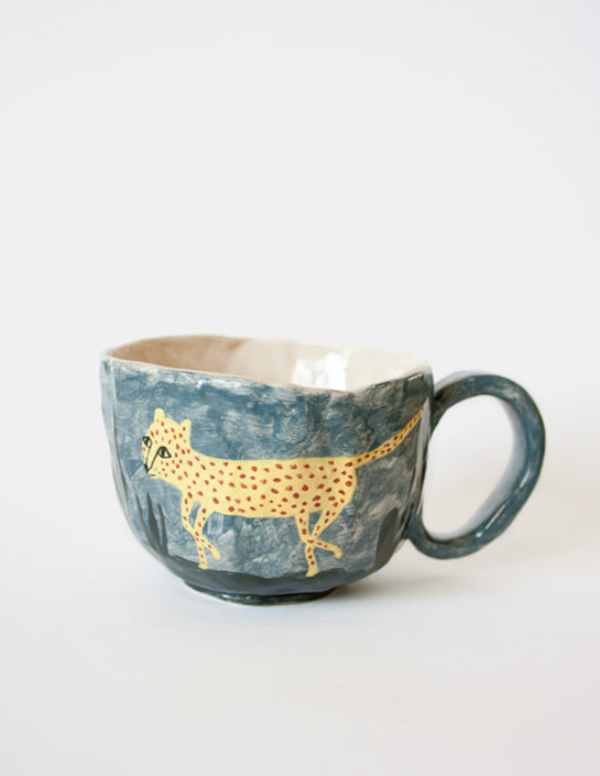 Leopard Mug by Karin Hagen