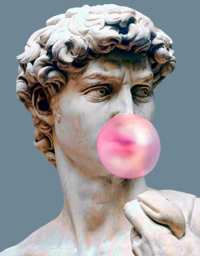 Michelangelo and Chewing Gum